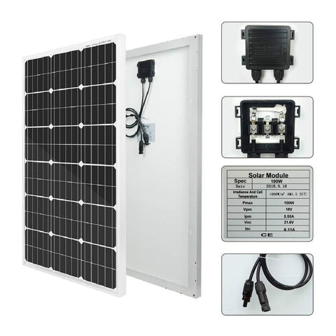 Image of Eco-Worthy 400W Off-Grid Solar System: Solar Panels + Charge Controller + Inverter