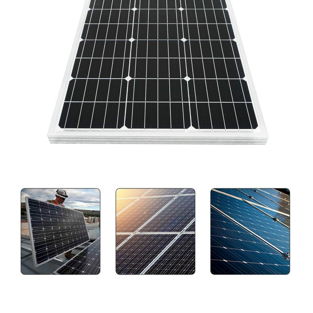 Eco-Worthy 400W Off-Grid Solar Panel Kit w/ Combiner Box + Charge Controller + Inverter - The Eco Store
