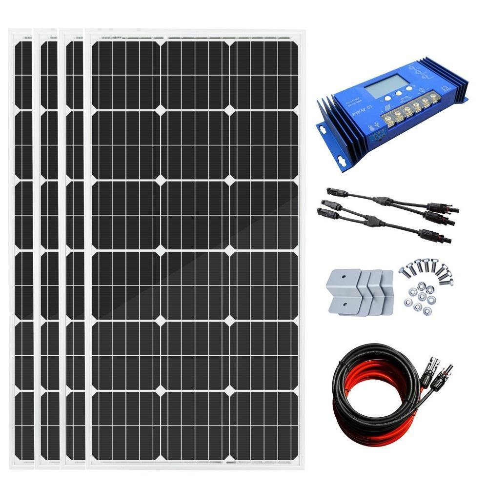 Eco-Worthy 400W Off-Grid Solar System: Solar Panels + Charge Controller Kit - The Eco Store