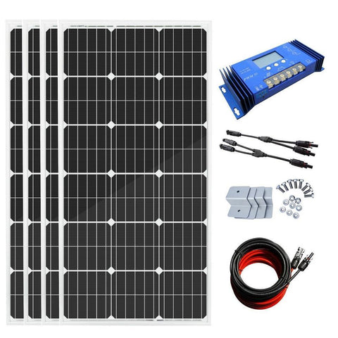 Image of Eco-Worthy 400W Off-Grid Solar System: Solar Panels + Charge Controller Kit - The Eco Store