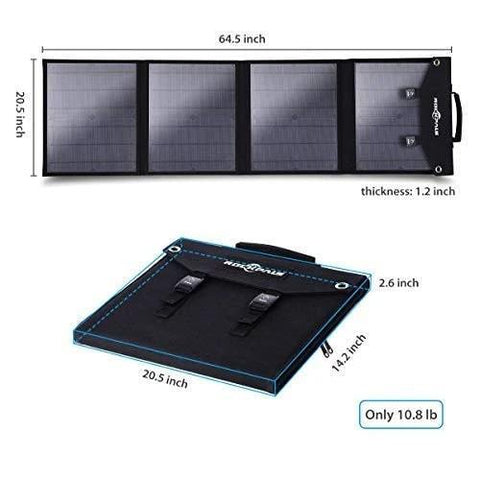 Rockpals 500W Portable Power Station + 100W Solar Panel Kit