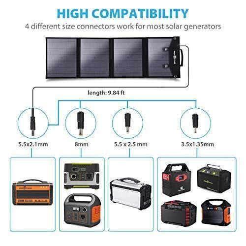 Rockpals 500W Portable Power Station + 100W Solar Panel Kit - The Eco Store