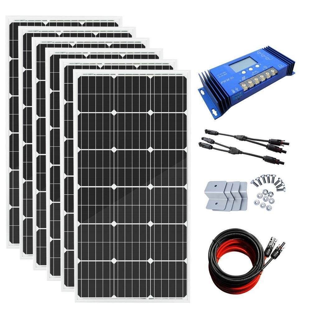 Eco-Worthy 600W Solar Panel System with 60A Charge Controller - The Eco Store