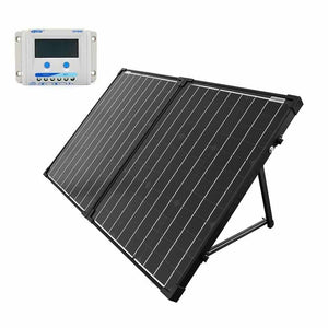 ACOPOWER 100W Foldable Solar Panel Kit with 10A LCD Charge Controller