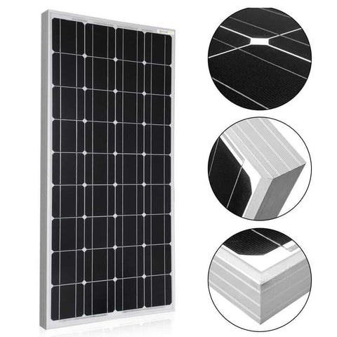 ACOPOWER 100 Watts 12 Volt Monocrystalline Solar Panel