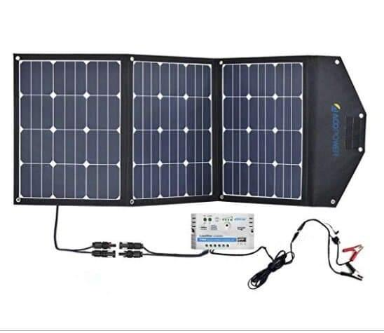 ACOPOWER LTK 105W Foldable Solar Panel Kit Suitcase