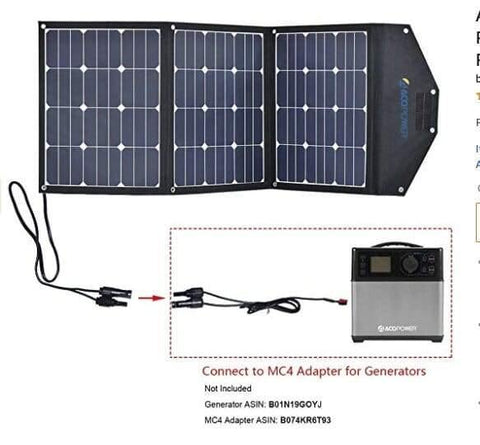 Image of ACOPOWER LTK 105W Foldable Solar Panel Kit Suitcase