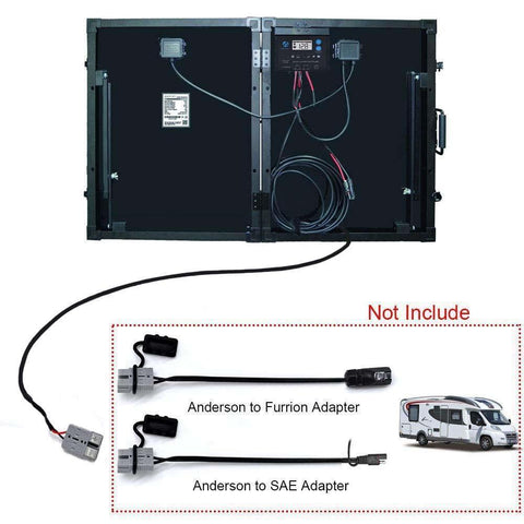 Image of ACOPOWER PTK 100W Portable Solar Panel Kit Briefcase, with ProteusX 20A Waterproof LCD Charge Controller