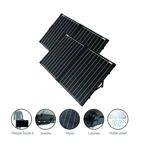 ACOPOWER PTK 200W Portable Solar Panel Kit Lightweight Briefcase