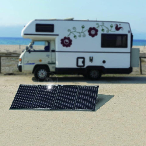 Image of ACOPOWER PTK 200W Portable Solar Panel Kit Lightweight Briefcase