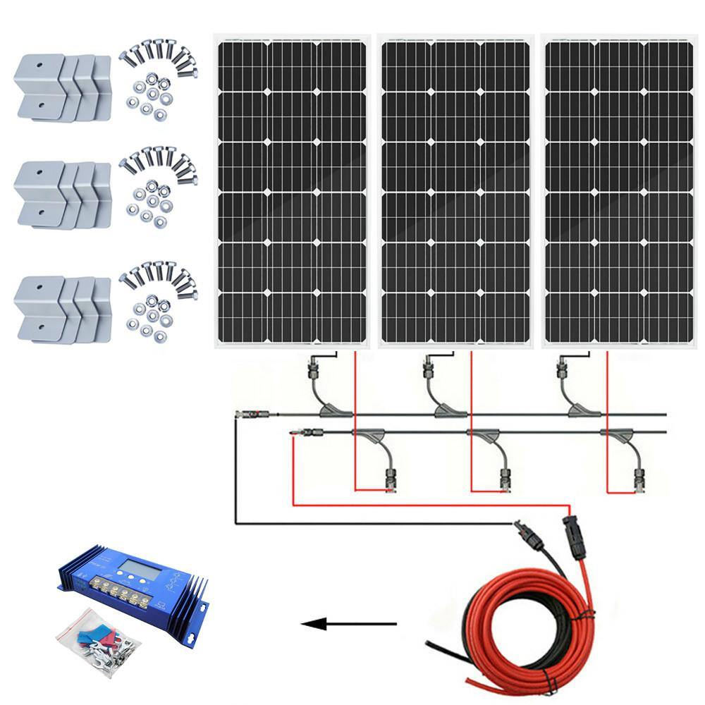 Eco-Worthy 300W Off-Grid Solar System: Solar Panels + Charge Controller Kit - The Eco Store