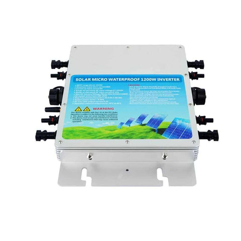 Image of Eco-Worthy 1200W Solar Inverter Grid Tie MPPT Waterproof Solar Panels 22-50V