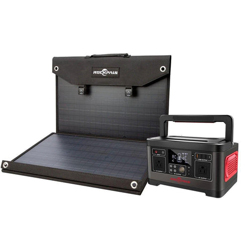Image of Rockpals 500W Portable Power Station + 100W Solar Panel Kit