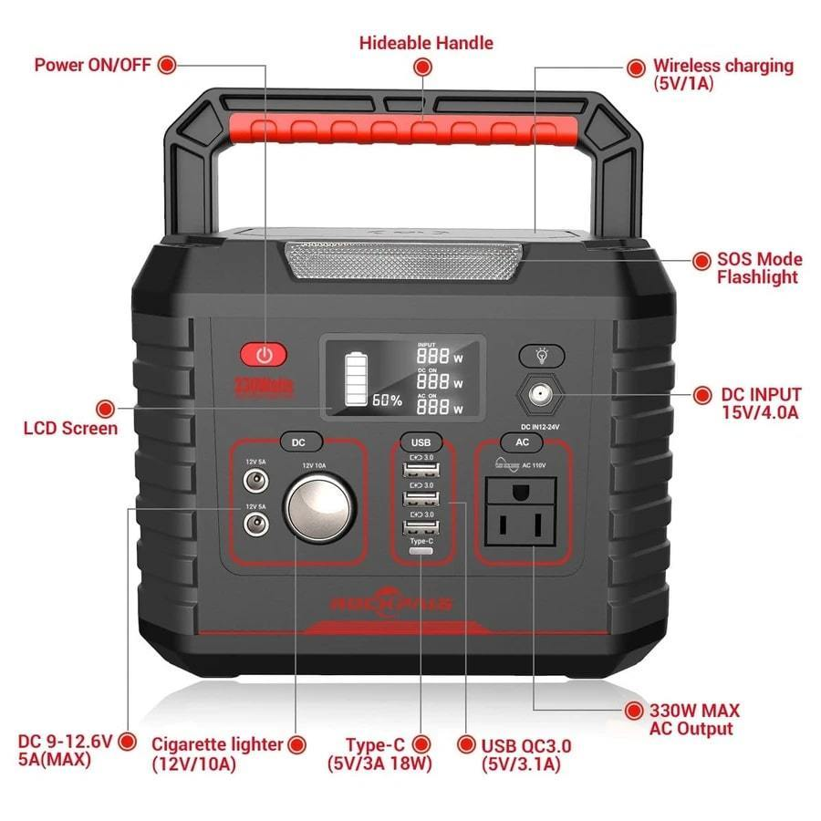 Rockpals 330W Portable Power Station - The Eco Store