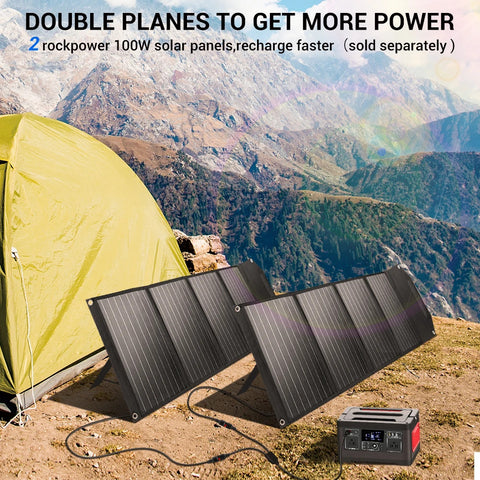 Image of Rockpals 100W Foldable Solar Panel 02
