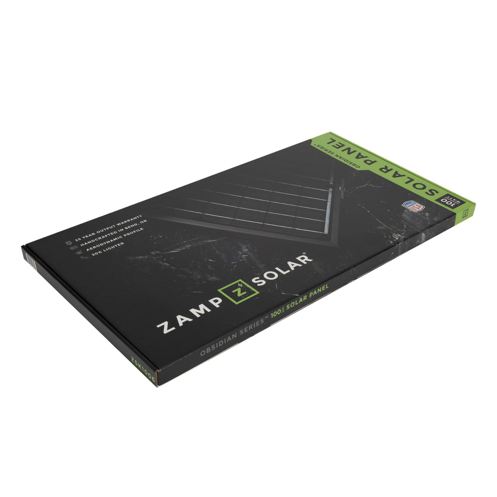 Zamp Solar Obsidian 100 Watt Solar Panel Kit