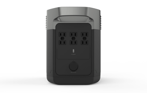 Image of EcoFlow Delta 1300 Portable Power Station Back View