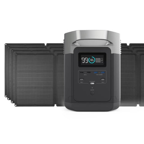 Image of EcoFlow Delta + 110W Solar Panel Bundle - The Eco Store