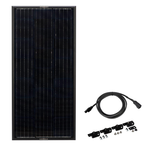 Image of Zamp Solar Obsidian 100 Watt Solar Panel Kit