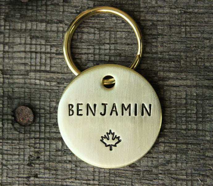 Personalized pet id tag - Maple