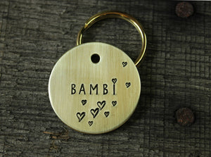 Personalized pet tag - Flying hearts