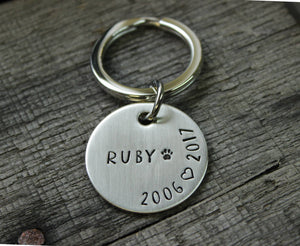 Pet memorial keychain gift - dog cat remembrance