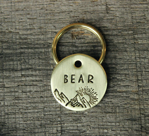 Personalized pet id tag - Mountains