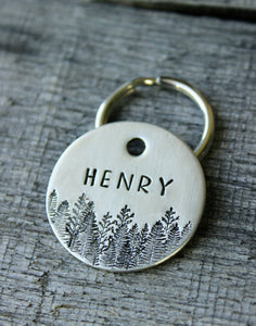 Personalized pet id tag - Forest