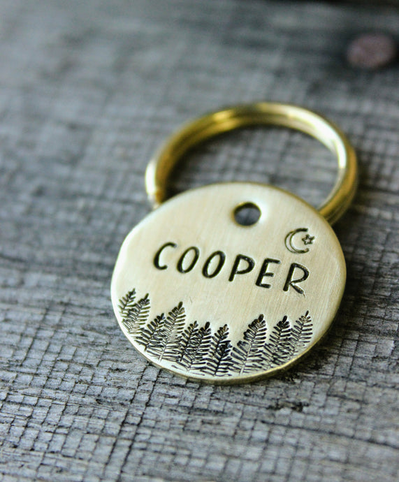 Personalized pet id tag - Evergreens