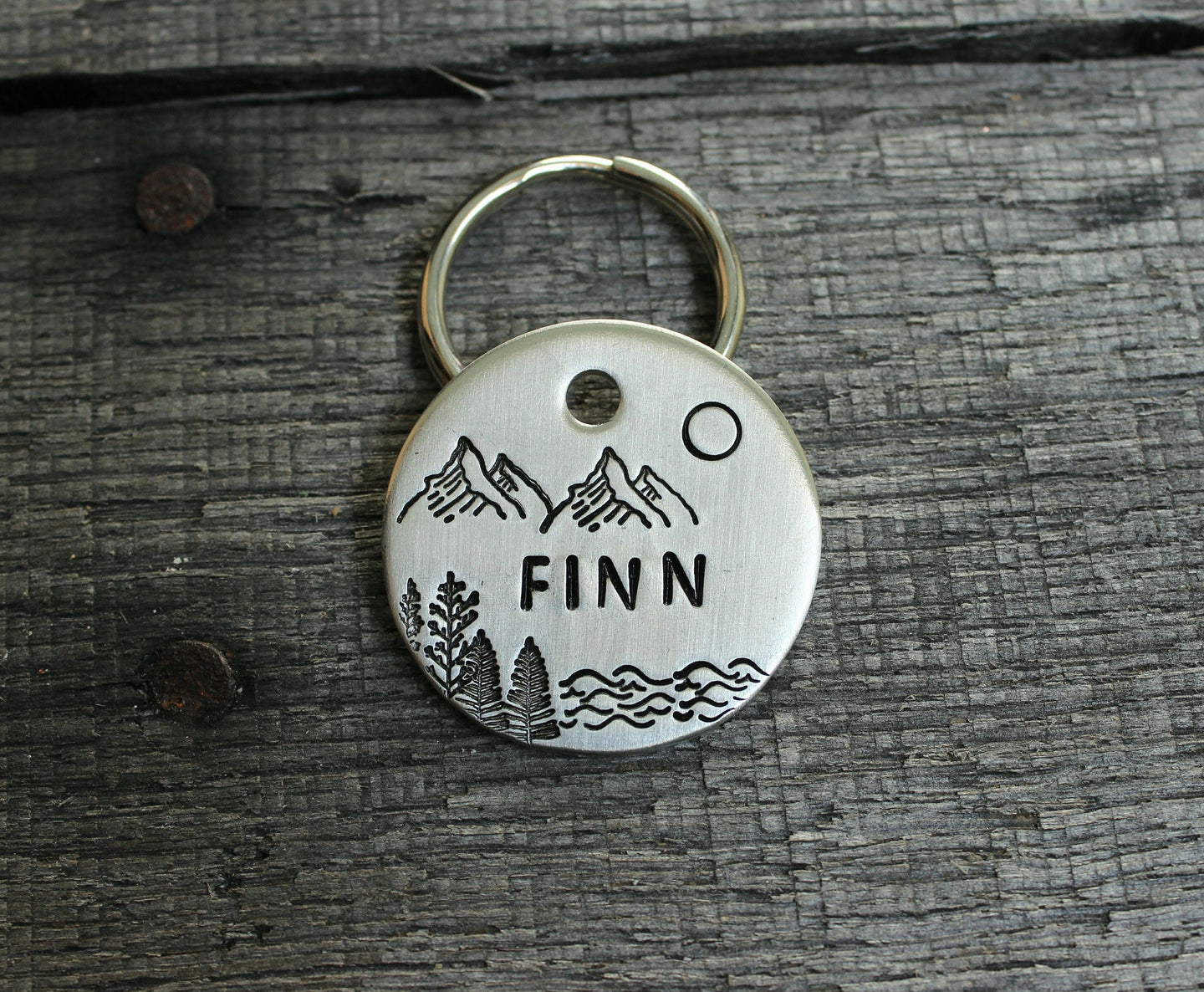 Personalized pet id tag - Scenery
