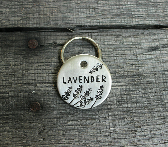 Personalized pet id tag - Lavender