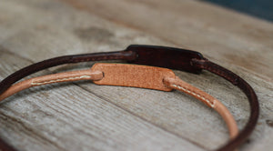 Silent identity dog collar - Round leather
