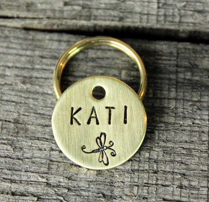 Personalized pet id tag - Dragonfly