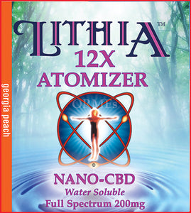 LITHIA12X CBD GEORGIA PEACH  ATOMIZER