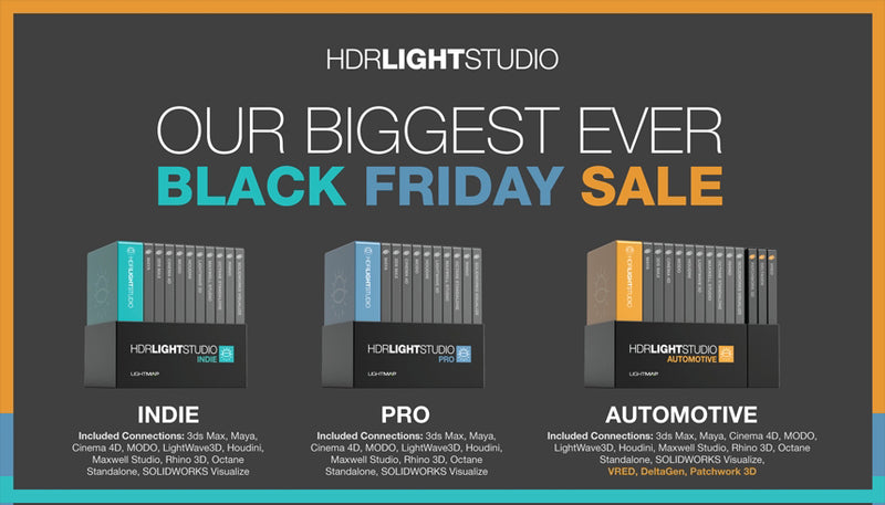 Black Friday Cyber Monday Sale 2019: Take 30% ~ 50% Off HDR Light Studio Pro & Automotive from LightMap