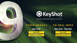 Black Friday and Cyber Monday Special Promo Discount: Take 20% Off Luxion KeyShot