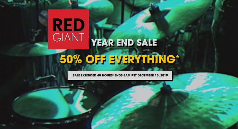 Red Giant SALE: Get 50% off EVERYTHING* for 24 Hours!