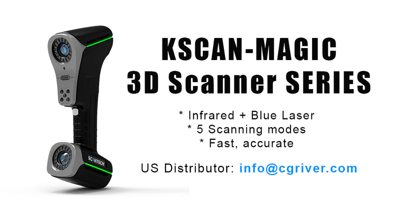 The FIRST Infrared and Blue Laser 3D Scanner: KSCAN-Magic Series 3D Scanners