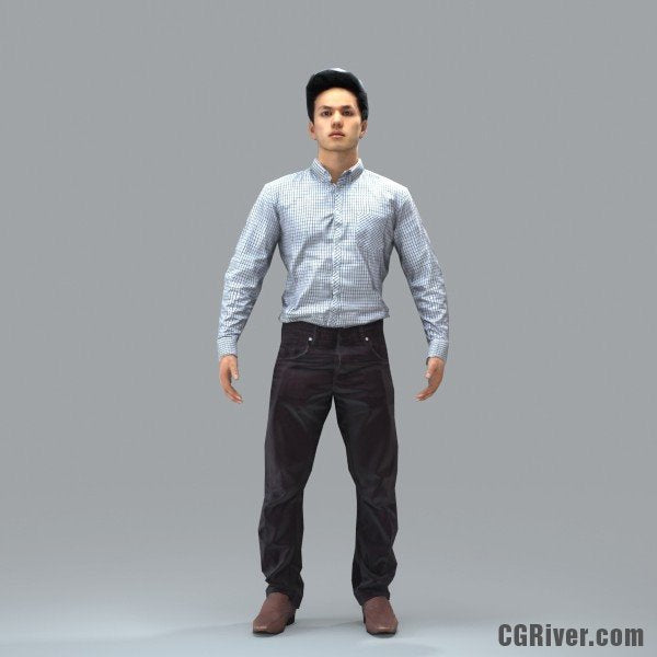 Asian Man, Business - RIGGED 3D MODEL for 3ds Max or Cinema 4D (BMan0103M4CS, BMan0103M4C4D)
