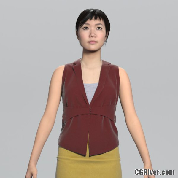 High Quality Rigged 3D Businesswoman | BWom0100HD2CS 3DS MAX Human