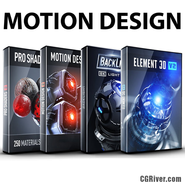 Motion Design Bundle: Element 3D + Pro Shaders 2 + BackLight + Motion Design II
