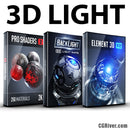 3D Light Bundle: Element 3D + Pro Shaders 2 + BackLight