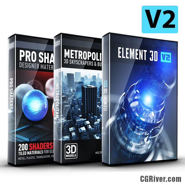3D Architecture Bundle | Element 3D + Metropolitan Pack + Pro Shaders