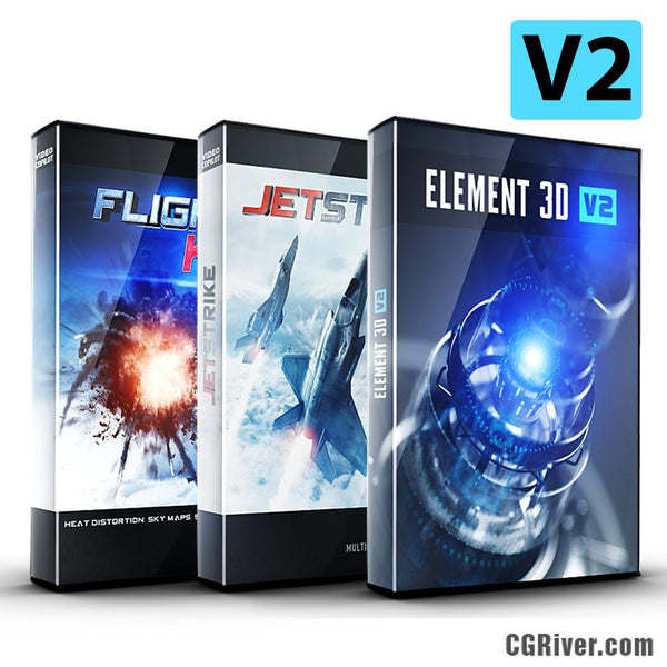 Jet Pack Bundle: Element 3D + JetStrike + Flight Kit from Video Copilot
