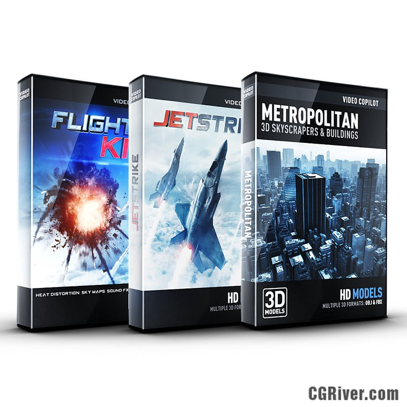 Aerial Bundle: JetStrike + Flight Kit + Metropolitan from Video Copilot