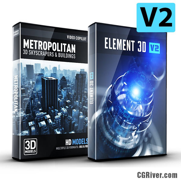 City Bundle | Element 3D + Metropolitan 3D Model Pack