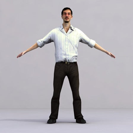 CASUAL PEOPLE- 10 T-POSE MODELS (MeCaT0003)