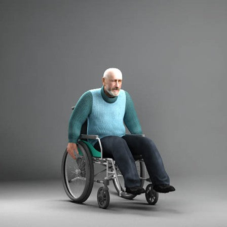 3D PEOPLE -  ANIMATED HUMAN MODEL (MeAnWheelChair)