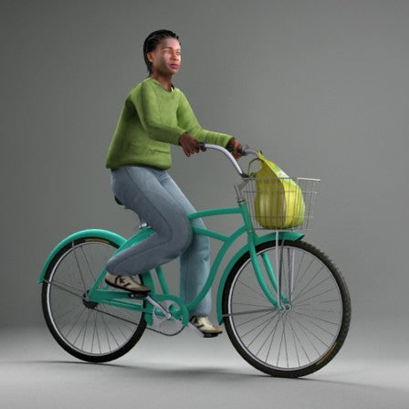 3D PEOPLE -  ANIMATED HUMAN MODEL (MeAnBike002CS)