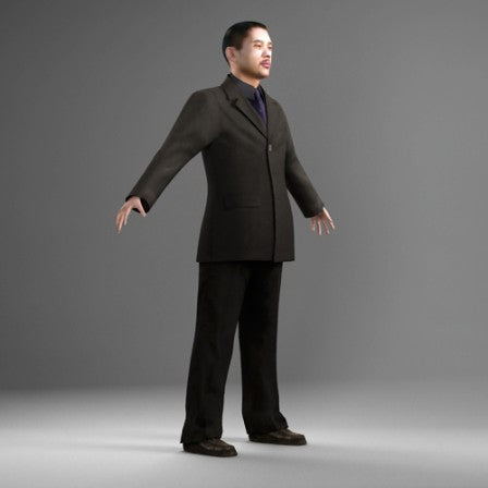 3D PEOPLE -  ANIMATED HUMAN MODEL (MeAnPhoneCabin01CS)